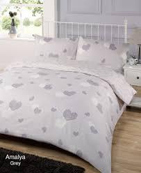 amalya grey duvet quilt cover bedding set