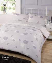 amalya grey duvet quilt cover bedding set