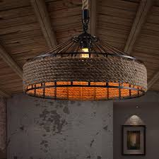 industrial style lighting. country rope drum shape industrial style light fixtures lighting