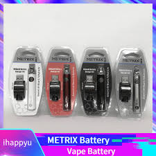 Metrix 650mah Preheat Battery Function 650vv Metrix Variable Voltage 3 4v 4v Ce3 Vape Battery 510 Thread Battery For Slim Vape Cartridges Free E