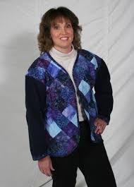 Patchwork Quilted Sweatshirt Jacket Pattern DPC-201 (intermediate) & Patchwork Quilted Sweatshirt Jacket Pattern DPC-201 Adamdwight.com