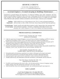 Sample Building Maintenance Resume Resume Maintenance Technician Resume Samples 6