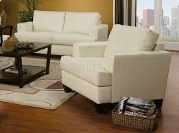 Stylish Sofa Sets For Living Room Pc Cream Bonded Leather Stylish Sofa Loveseat Set