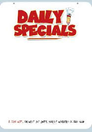 specials menu daily specials menu board
