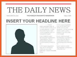 Newspaper Front Template Newspaper Outline Template Wsopfreechips Co