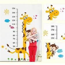 Details About Giraffe Animal Kids Growth Chart Wall Sticker Height Measure Decal Room Decor Ki