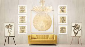 walls of wonder bright gold frame wall art light up the room with the intrinsic warmth and internal glow of the world e s most precious metal to decorate