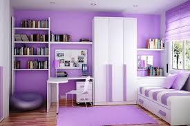 bedroom design for girls purple. Bedroom Accessories For Purple And White Theme With Wool Rug Shelves Set Also Strip Sofa Design Girls E