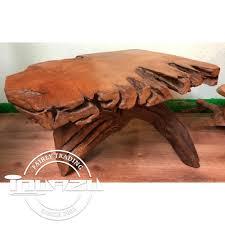 large reclaimed teak root coffee table