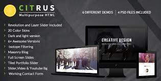 Portfolio Website Templates Adorable Citrus One Page Parallax Portfolio By BuddhaThemes ThemeForest