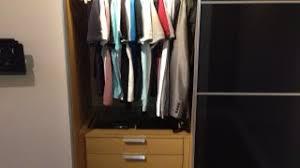 ikea wardrobe lighting. Ikea Pax Wardrobe Hack With Sliding Doors, Komplement LED Lighting And Soft Closing Hinges