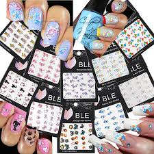 Beautiful Water Nail Tattoo Stickers Cat Heart Flowers Bows Butterflies More 10 Pack By La