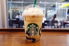 Starbucks this drink that's reminiscent of bubble tea is made with a coffee jelly base, then topped with a caramel frappuccino blended with milk, coffee, and ice, and finished with a whipped cream cloud. The Coffee Jelly Frappuccino At Starbucks Tokyo Blog Mitzie Mee