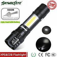 ZOOMABLE COD Flishlight XPE Q5 + COB LED Mini Đèn Pin 14500/AA 4 Chế Độ  Pocket Torch Đèn Lồng Xe Dịch Vụ trạm Làm Việc Ánh Sáng|LED Flashlights