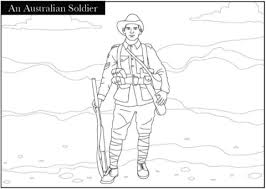 A Ww1 Australian Soldier Coloring Page Free Printable Coloring Pages