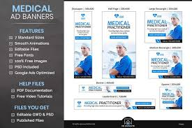 Medical Animated Ad Banner Template Ps003