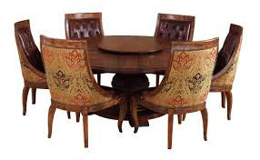 Expandable Circular Dining Table Expandable Dining Table Set Mid Century Expandable Dining Set