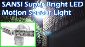 Brightest Outdoor Security Lights Sansi Super Bright Led Motion Sensor Security Light 3400 Lumens