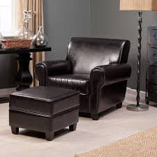 Small Bedroom Chair With Ottoman Reading Space Home Ideas With Leather Black Club Chair Design And