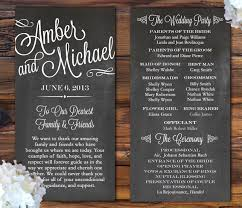 Fun Wedding Programs Programs For Weddings Tosya Magdalene Project Org