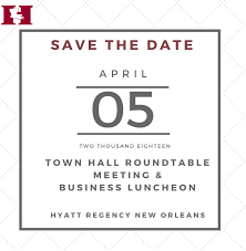 2018 town hall roundtable meeting luncheon