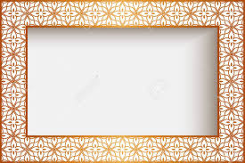 Rectangle Frame With Gold Border Decoration Greeting Card Or