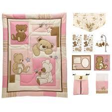 teddy bear crib sheet little bedding by nojo dreamland teddy 10 piece crib bedding set