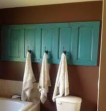 old door made into hook rack
