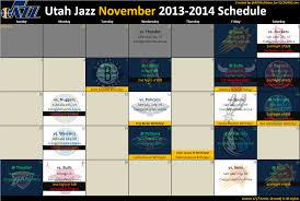Utah Jazz 2013 2014 Schedule High Resolution Downloads