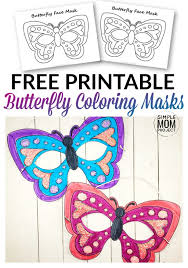 We have over 3,000 coloring pages available for you to view and print for free. Free Printable Butterfly Mask Template Coloring Page Simple Mom Project