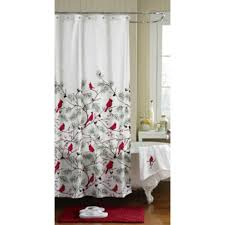 winter cardinals bathroom collection shower curtain rug
