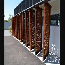 corten steel corrugated metal privacy fence panels for garden decoration corten n70