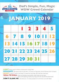 dad s january disney world crowd calendar