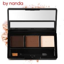 by nanda professional no 04 eye brow makeup waterproof glitter and shimmer eyebrow powder palette eye shadow make up set kit bhs in eyebrow enhancers from