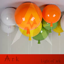 Ark Balloon Design Us 34 0 Dia 250mm Balloon Shape Led Ceiling Lamps Children Room Cute Ball Lampshade Living Dining Room Decoration Lighting In Ceiling Lights From