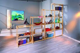 Scaffale componibile Jolly, mobile moderno il legno massello