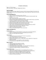 Dazzling Job Description For Deli Worker Astonishing Sensational