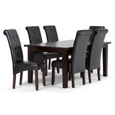 7 piece black dining room set. Simpli Home Cosmopolitan 7-Piece Tanners Brown Dining Set 7 Piece Black Room N