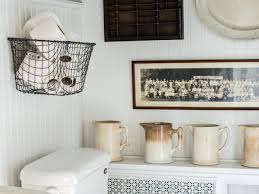 Wall Storage Bathroom Easily Boost Bathroom Storage With Wall Mounted Baskets Hgtv