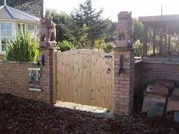looking out door. Trendy Ideas Of Outdoor Wood Gates Designs Exterior Geronk Home Makeovers Designer Gate Exquisite Design Pale Looking Out Door