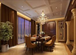 dining room chandeliers for modern style european style villa dining room with chandelier and partition