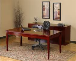 home office simple neat. Modular Desks Home Office : Simple And Neat Design With Rectangular Brown Wooden Desk