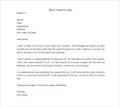 Free Mentor Thank You Letter Word Doc