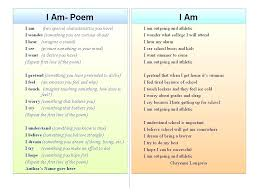 I Am Poems Examples Of I Am Poems How To Make An I Am Poem Co Examples Of