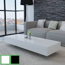 black and white modern furniture. New Coffee Table Modern Furniture Side MDF High Gloss White/Black 115/85cm Black And White E