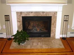 replacing fireplace tile surround round designs
