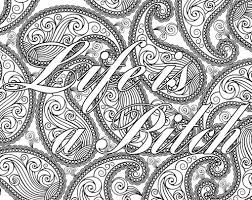 Small Picture Adult Coloring Page The swearing words Life is a Bitch Doodles
