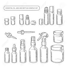 Decorative Oil Jars Essential Oil Jars And Bottles Hand Drawn Graphic Set Design 55