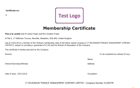 Share Certificate Template Companies House Share Certificate