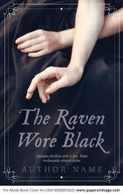 premade book cover 180608ta02 the raven wore black